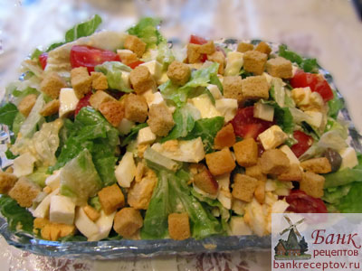 рецепт салата из листьев салата фото рецепт