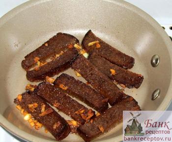 гренки из черного хлеба с чесноком рецепт