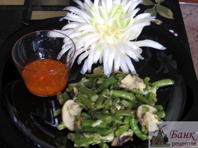 Рецепт постного блюда из стручковой фасоли. Фото