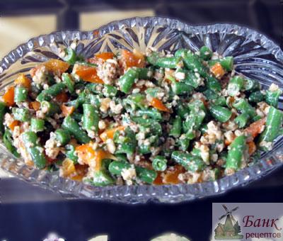 Рецепт салата из стручковой фасоли (фото)