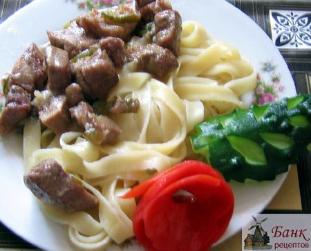 Домашняя лапша гарнир рецепт пошагово 35