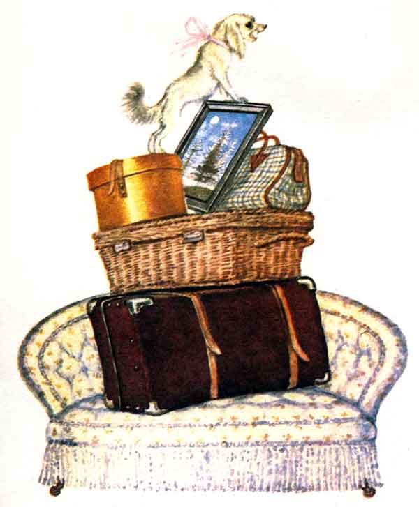 Багаж. Иллюстрация к сказке