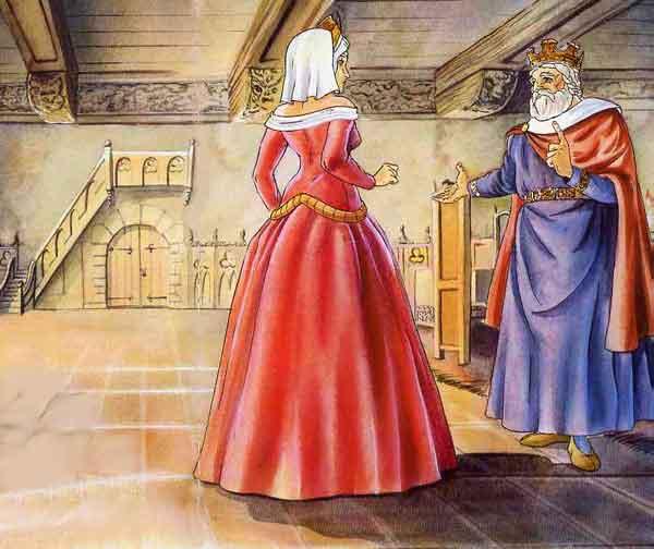 Иллюстрация к сказке Принц-лягушка