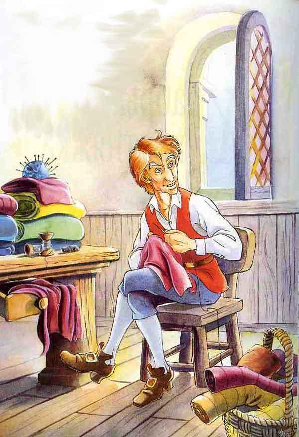 Иллюстрация к сказке Храбрый портняжка