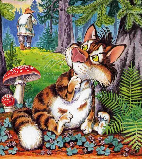 Читать сказку кот и лиса с картинками