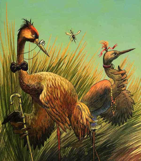 Иллюстрация 1 к сказке Журавль и цапля