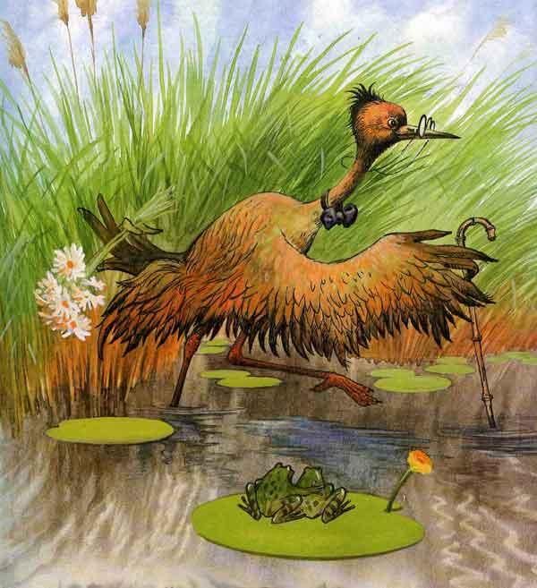 Цапля на болоте картинки