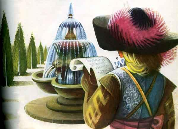 Фанта Гиро читает письмо, картинка