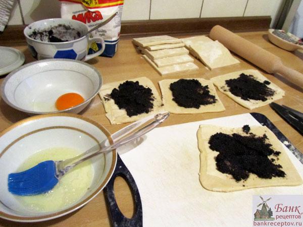 булочки с маком рецепт с фото из слоеного теста