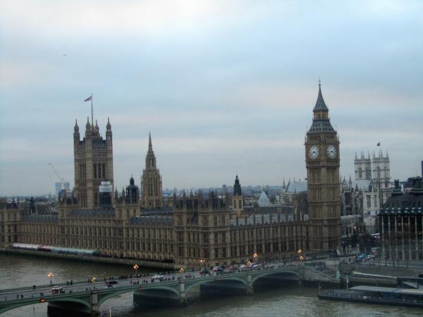 Вестминстерское аббатство с колеса обозрения, фото