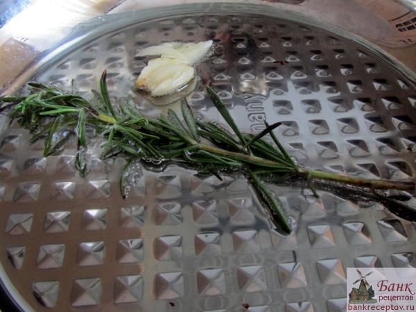 <розмаиррн и чеснок для фасоли, фото
