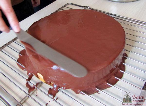 Как приготовить шоколадную глазурь для торта Эстерхази, фото