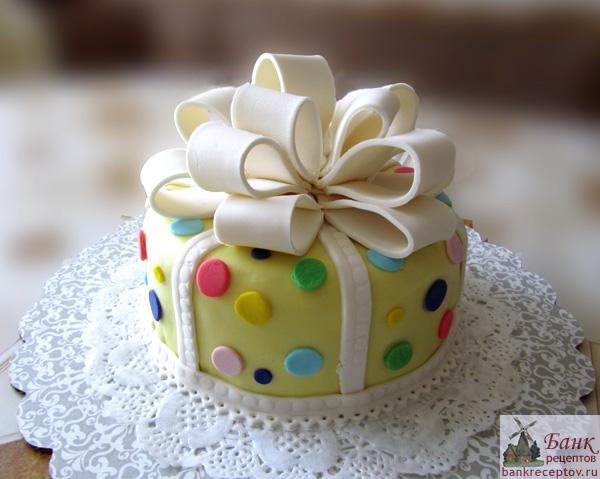 фото торт из мастики с бантом