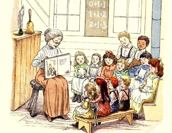 учитель рассказывает сказку, фото