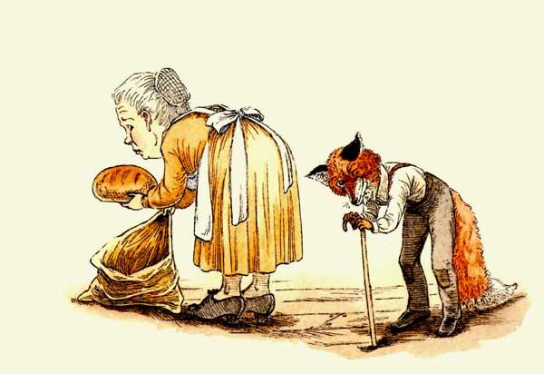 женщина кладет хлеб в мешок, фото