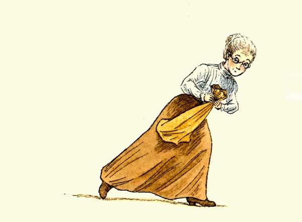женщина развязала мешок, фото