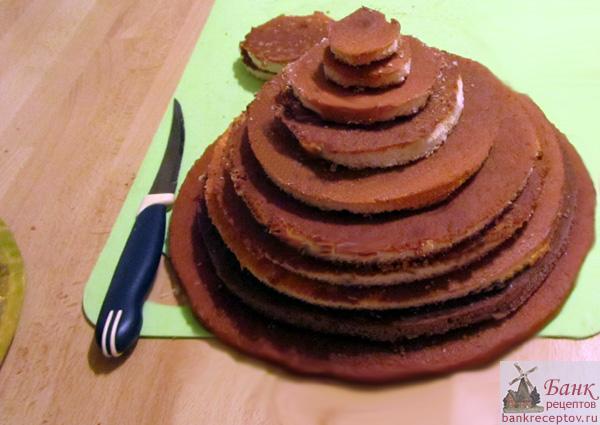 Коржи для торта Елочка, фото