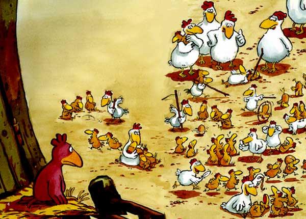 почему петух и курица