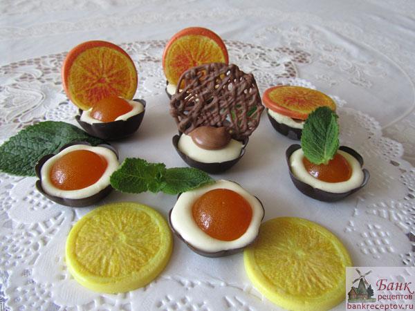 рецепт десерта из апельсин