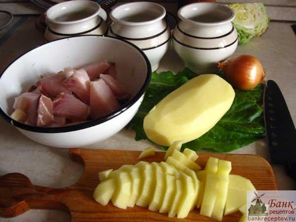 Осетрина с картошкой, фото