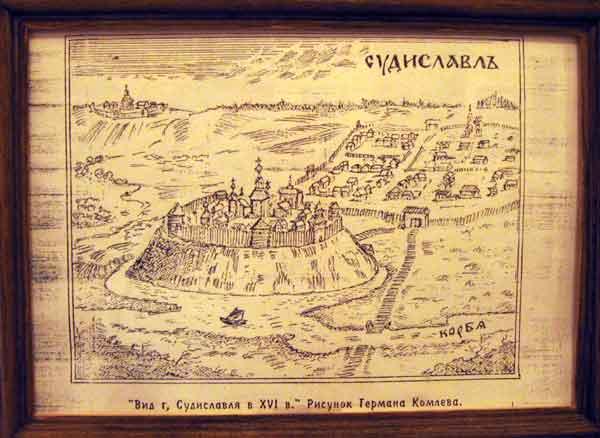 План-схема Судиславля