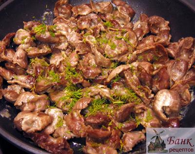 Приготовления куриных желудков
