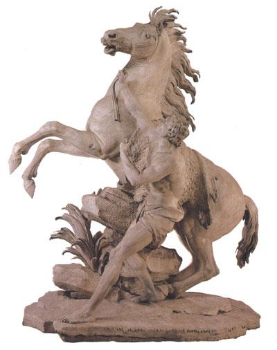 Лувр гийом кусту кони марли